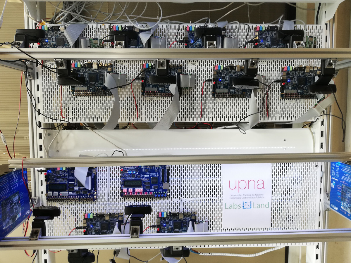 FPGA laboratories pilot project for Digital Electronics with UPNA (Pamplona) and UNIFESP (São Paulo)