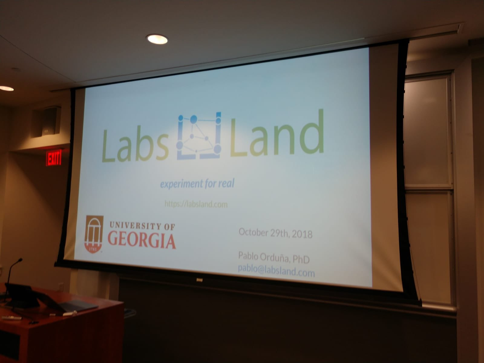 LabsLand talk at UGA